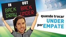 Diário Brasileirão: jogo 3, parte 3, Trocar under por empate