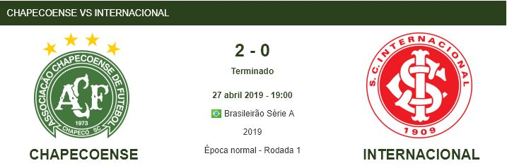 jogo 1 chapecoense vs internacional 27abril2019